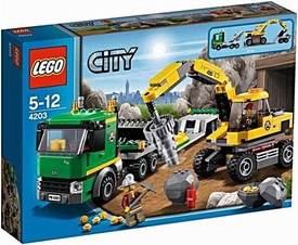LEGO City Set #4203 Excavator Transport