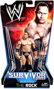 Mattel WWE Wrestling Survivor Series Heritage PPV Series 11 Action Figure The Rock BLOWOUT SALE!