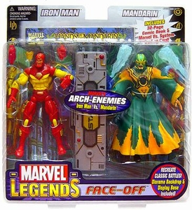 Marvel Legends Face Off Series 2 Action Figure Twin Pack Iron Man vs. Mandarin