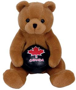Ty Beanie Baby Canada Exclusive Deke the Hockey Bear
