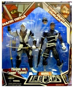 Marvel Legends Ninjas Vs. Super Spies Action Figure 2-Pack Dum Dum Dugan & White Hand Ninja