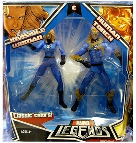 Marvel Legends Classic Colors Action Figure 2-Pack Human Torch & Invisible Woman