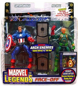 Marvel Legends Face Off Series 1 Action Figure Twin Pack Captain America Unmasked vs. Baron Strucker Variant