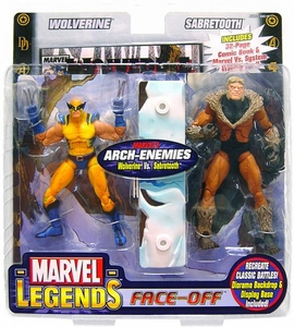 Marvel Legends Face Off Series 2 Action Figure Twin Pack Wolverine vs. Sabretooth