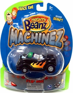 Mighty Beanz Machinez Black Hotrod with Exclusive Old Rocker Bean #392