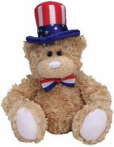 Ty Beanie Baby Independence The Bear (Blue Rim Hat)
