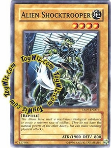 YuGiOh GX Tactical Evolution Single Card Common Alien Shocktrooper TAEV-EN001