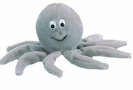 Ty Beanie Baby Inky the Gray Octopus Near Mint Tags Very Rare!