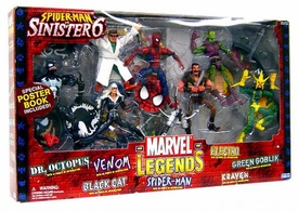 Marvel Legends Action Figure Boxed Set Spider-Man vs. Sinister 6 [Dr. Ock, Venom, Black Cat, Spidey, Electro, Green Goblin & Kraven]