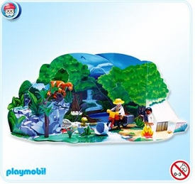Playmobil Christmas Advent Calendar Set #4162 Dinosaur Expedition