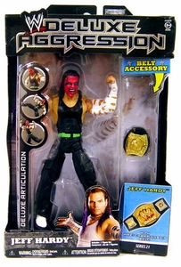 WWE Wrestling DELUXE Aggression Series 21 Action Figure Jeff Hardy [Red Face Paint!]