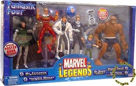 Marvel Legends Fantastic Four Action Figure Boxed Set [Mr. Fantastic, Invisible Woman, Dr. Doom, Human Torhc, Thing, Franklin Richards & H.E.R.B.I.E.] Normal Version!