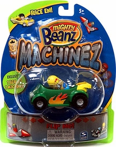 Mighty Beanz Machinez Green Dune Buggy with Special Edition Dune Buggy Bean #351