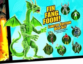 Marvel Legends Marvel Heroes 2008 SDCC San Diego Comic Con Exclusive Incredible Hulk Action Figure Box Set Fin Fang Foom Builder