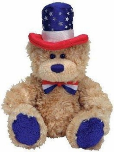 Ty Beanie Baby Independence The Bear (Red Rim Hat)