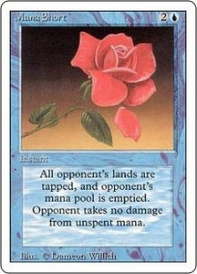 Magic the Gathering Revised Edition Single Card Rare Mana Short Slightly Played Condition
