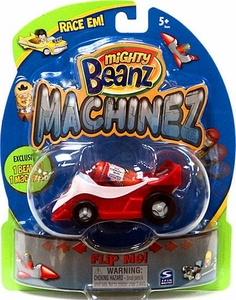 Mighty Beanz Machinez Red Race Car with Special Edition Formula 1 Bean #353