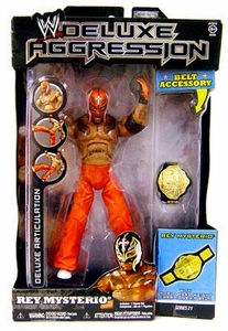 WWE Wrestling DELUXE Aggression Series 21 Action Figure Rey Mysterio [Orange Mask & Pants]