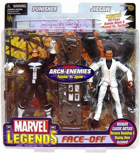 Marvel Legends Face Off Series 2 Action Figure Twin Pack Punisher Thin Skull vs. Jigsaw Suit Variant