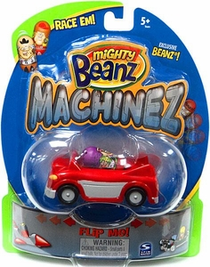 Mighty Beanz Machinez Red Car with Exclusive LA Gangster Bean #394