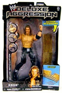 WWE Wrestling DELUXE Aggression Series 21 Action Figure Edge Damaged Package, Mint Contents!