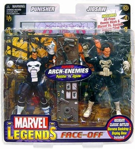 Marvel Legends Face Off Series 2 Action Figure Twin Pack Punisher vs. Jigsaw