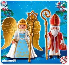 Playmobil Christmas Set #4887 Saint Nicholas and Angel