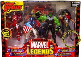 Marvel Legends Action Figure 4-Pack Boxed Gift Set Young Avengers [Iron Lad, Patriot, Asgardian & Hulkling]