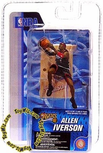 McFarlane Toys NBA 3 Inch Sports Picks Series 4 Mini Figure Allen Iverson (Philadelphia 76ers)
