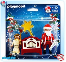 Playmobil Christmas Set #4889 Little Angel and Santa Claus with Organ