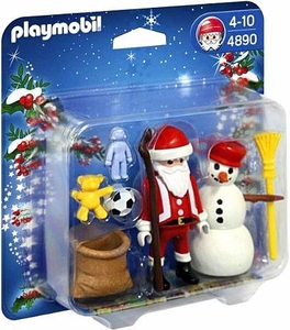 Playmobil Christmas Set #4890 Santa Claus with Snowman