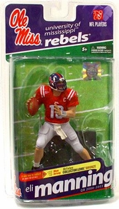 McFarlane Toys NCAA COLLEGE Football Sports Picks Series 2 Action Figure Eli Manning (Ole Miss Rebels)