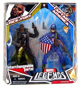 Marvel Legends Action Figure 2-Pack Ultimates Captain America & Nick Fury