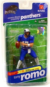McFarlane Toys NCAA COLLEGE Football Sports Picks Series 2 Action Figure Tony Romo (Eastern Illinois Panthers) Blue Jersey