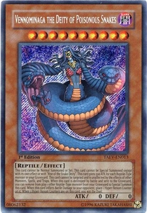 YuGiOh GX Tactical Evolution Single Card Secret Rare TAEV-EN013 Vennominaga the Deity of Poisonous Snakes