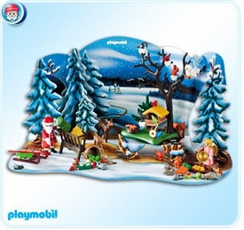 Playmobil Advent Calendar Set #4166 Forest Winter Wonderland