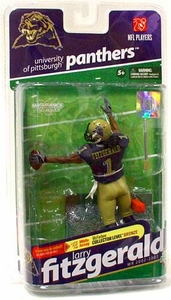 McFarlane Toys NCAA COLLEGE Football Sports Picks Series 2 Action Figure Larry Fitzgerald (Pittsburgh Panthers) Dark Blue Jersey
