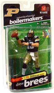 McFarlane Toys NCAA COLLEGE Football Sports Picks Series 2 Action Figure Drew Brees (Purdue Boilermakers) Black Jersey