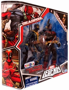 Marvel Legends Fan's Choice Exclusive Action Figure 2-Pack Deadpool [Blue & Yellow Outfit] & Warpath