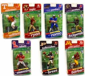 McFarlane Toys NCAA COLLEGE Football Sports Picks Series 2 Set of 7 Action Figures [Witten, E. Manning, Romo, Barber, Fitzgerald, Brees & Ryan]