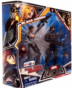 Marvel Legends Fan's Choice Exclusive Action Figure 2-Pack Black Widow [Gray Costume] & Winter Soldier