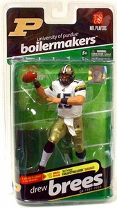 McFarlane Toys NCAA COLLEGE Football Sports Picks Series 2 Action Figure Drew Brees (Purdue Boilermakers) White Jersey Bronze Collector Level Chase Only 3,000 Made!