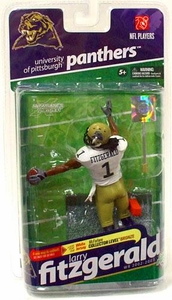McFarlane Toys NCAA COLLEGE Football Sports Picks Series 2 Action Figure Larry Fitzgerald (Pittsburgh Panthers) White Jersey Bronze Collector Level Chase Only 3,000 Made!