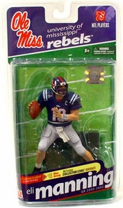 McFarlane Toys NCAA COLLEGE Football Sports Picks Series 2 Action Figure Eli Manning (Ole Miss Rebels) Navy Blue Jersey Bronze Collector Level Chase Only 3,000 Made!