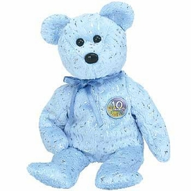 Ty Beanie Baby Light Blue Decade the Bear