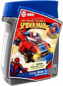 Marvel Mega Bloks Build Vehicle Set #91236 Spider-Man Racer