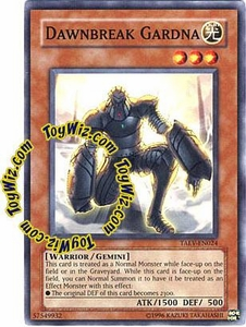 YuGiOh GX Tactical Evolution Single Card Common Dawnbreak Gardna TAEV-EN024