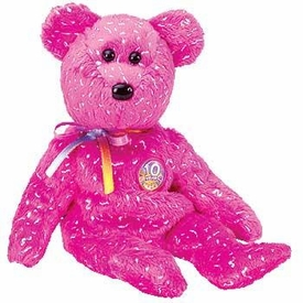 Ty July 2003 Beanie Baby of the Month Decade the Hot Pink Bear