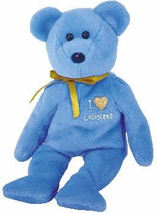 Ty Beanie Baby Hurricane Katrina Relief Charity I Love Louisianna the Bear