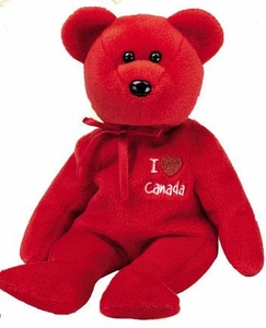 Ty Beanie Baby I Love Canada the Bear